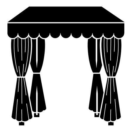 Wedding tent icon, simple style