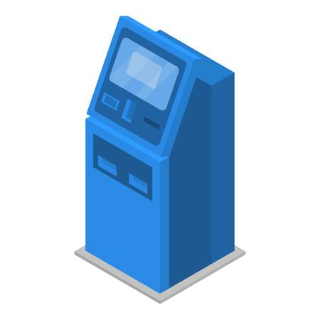 Payment machine icon. Isometric of payment machine vector icon for web design isolated on white background