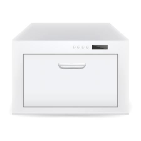 Closed dishwasher icon. Realistic illustration of closed dishwasher vector icon for web design Archivio Fotografico - 126462844