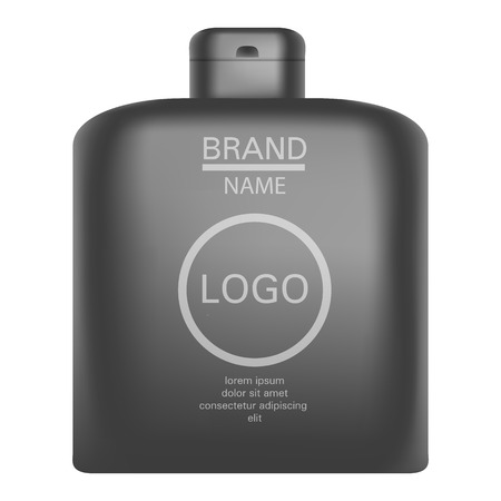 Man shampoo icon. Realistic illustration of man shampoo vector icon for web design