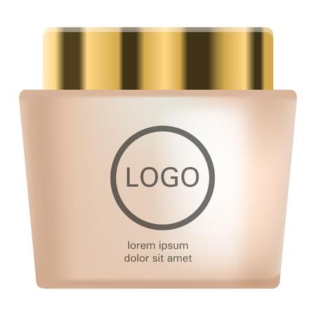 Shampoo creme icon, realistic style 写真素材 - 114653625