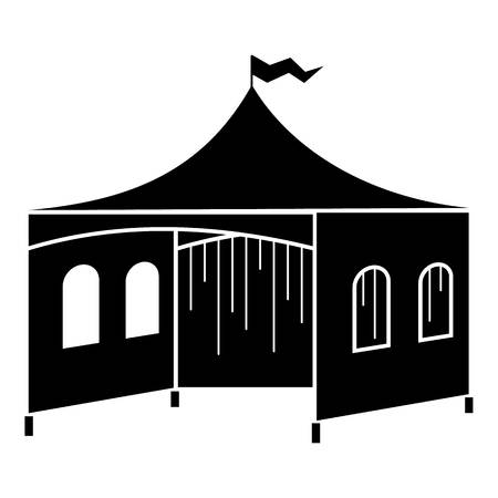 Outdoor festive tent icon, simple style Vettoriali