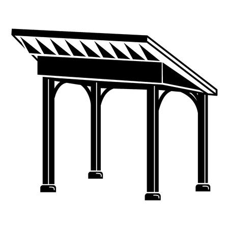 Gazebo icon. Simple illustration of gazebo vector icon for web design isolated on white background