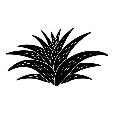 Aloe plant icon, simple style  イラスト・ベクター素材