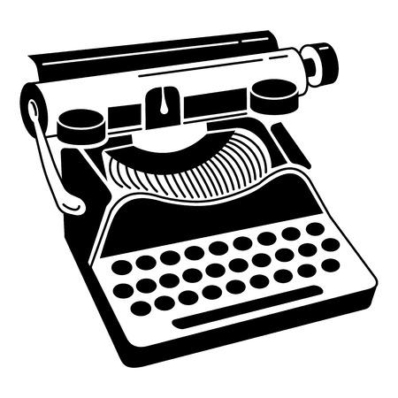Classic typewriter icon. Simple illustration of classic typewriter vector icon for web design isolated on white background