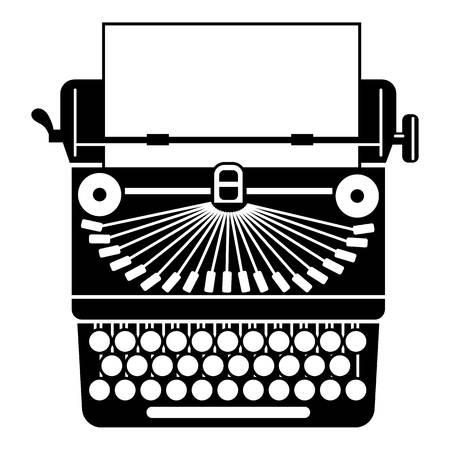 Retro typewriter icon. Simple illustration of retro typewriter vector icon for web design isolated on white background