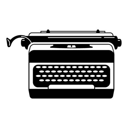 Office typewriter icon. Simple illustration of office typewriter vector icon for web design isolated on white background