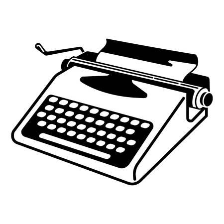 Icono de máquina de escribir soviética. Ilustración simple del icono de vector de máquina de escribir soviética para diseño web aislado sobre fondo blanco Ilustración de vector
