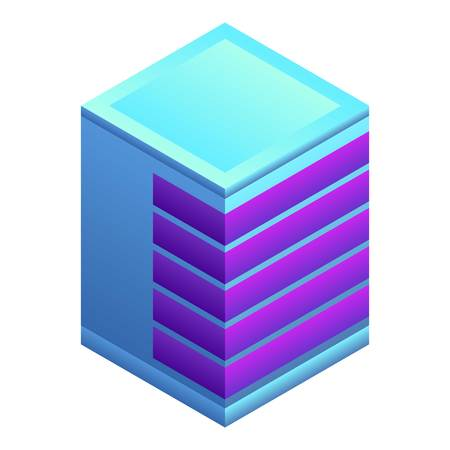 Modern building icon. Isometric of modern building vector icon for web design isolated on white background
