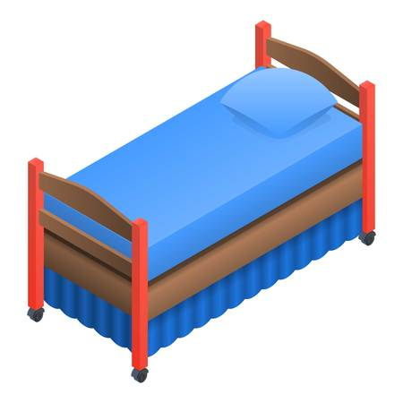 Kid bed icon. Isometric of kid bed vector icon for web design isolated on white background