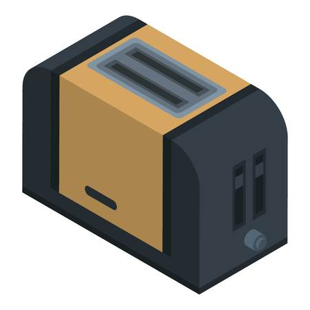 Modern toaster icon. Isometric of modern toaster vector icon for web design isolated on white background