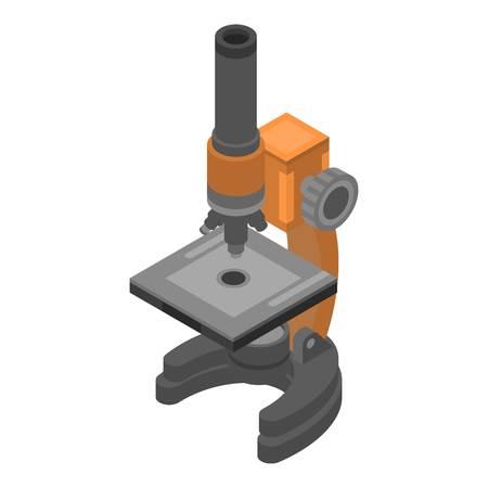Icona del microscopio da laboratorio. Icona di vettore del microscopio da laboratorio isometrica per il web design isolato su sfondo bianco