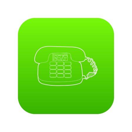Phone icon green vector