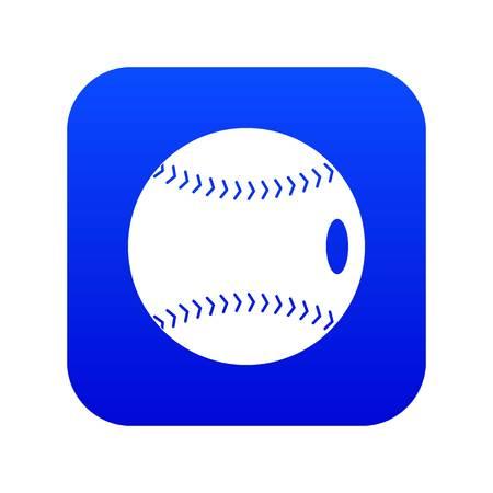 Baseball ball icon digital blue for any design isolated on white vector illustration Ilustração