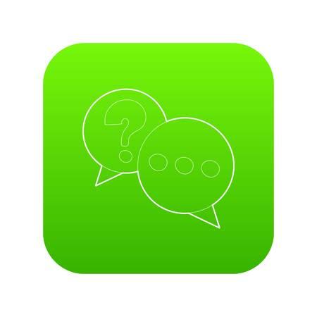 Talk icon green vector