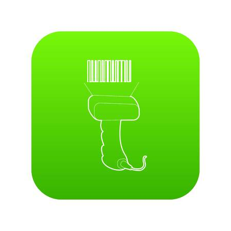 Scanner icon green vector Illustration