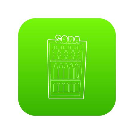 Refrigeration icon green vector