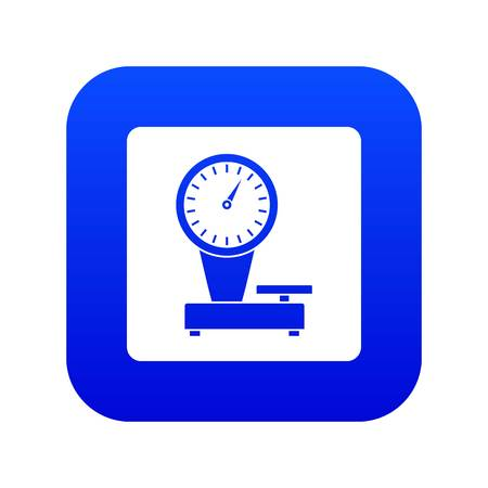Weight scale icon digital blue for any design isolated on white vector illustration Vettoriali