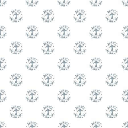 Mushroom season pattern vector seamless