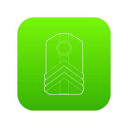 Shoulder straps icon green vector Çizim