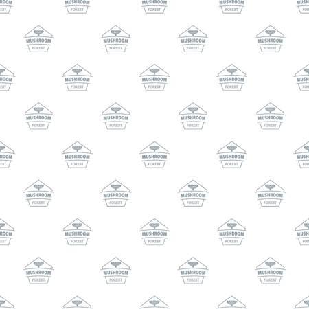 Mushroom forest pattern vector seamless