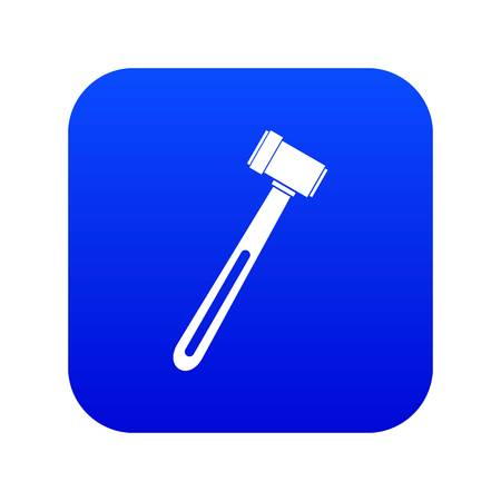 Medical hammer icon digital blue for any design isolated on white vector illustration