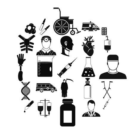 Ambulance icons set. Simple set of 25 ambulance vector icons for web isolated on white background Illustration