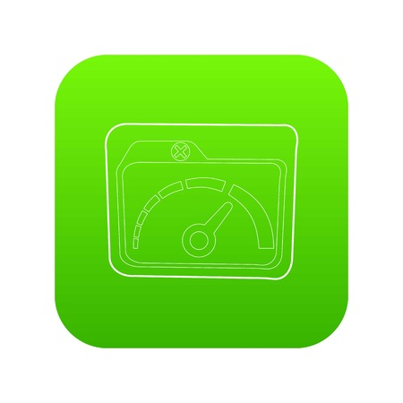 Indicator icon green vector Illustration