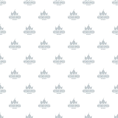 Eco kitchen spice pattern vector seamless