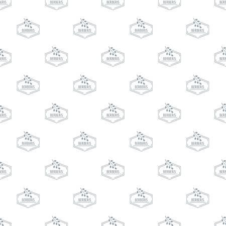 Berberis pattern vector seamless