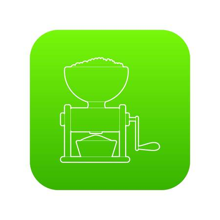 Meat grinder icon green vector