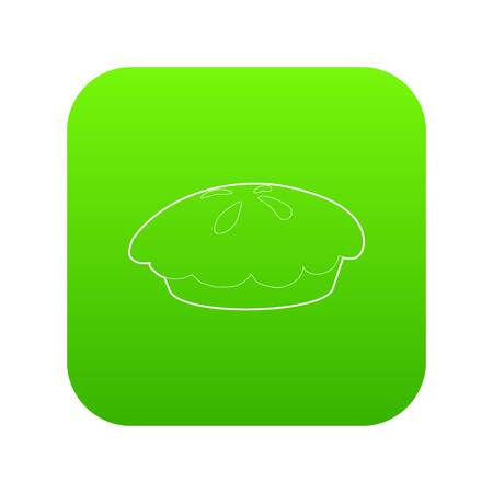 Loaf icon green vector  イラスト・ベクター素材