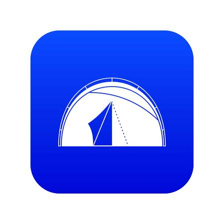 Dome tent icon digital blue for any design isolated on white vector illustration