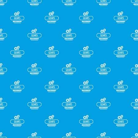Process machinery pattern vector seamless blue