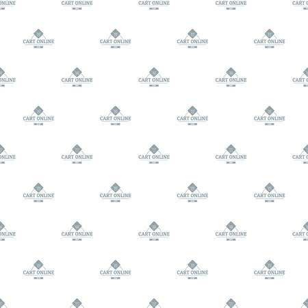Cart online pattern vector seamless