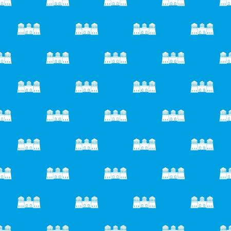 Castle pattern vector seamless blue