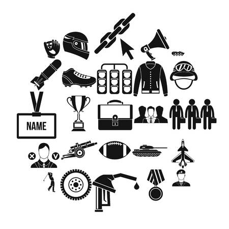 Conquest icons set. Simple set of 25 conquest vector icons for web isolated on white background Archivio Fotografico - 126381057