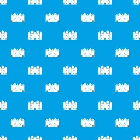 Old castle pattern vector seamless blue