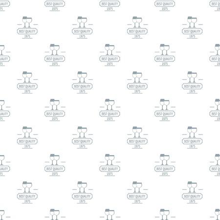 Wineglass pattern vector seamless