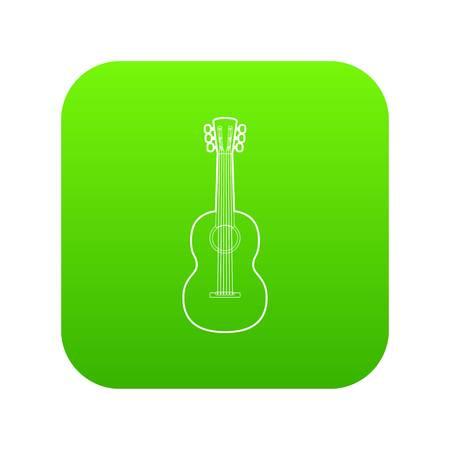 Guitar icon green vector