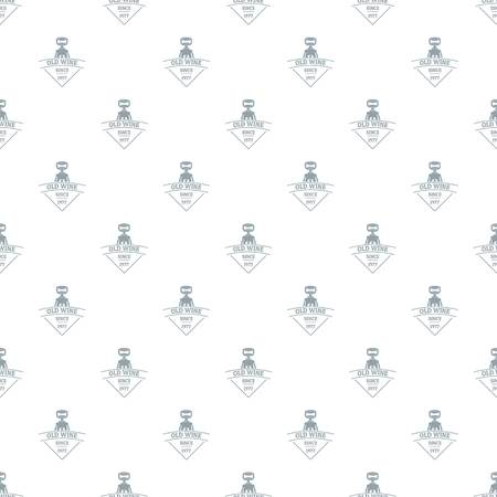 Restaurant wine pattern vector seamless