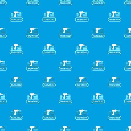 Correction traumatology pattern vector seamless blue