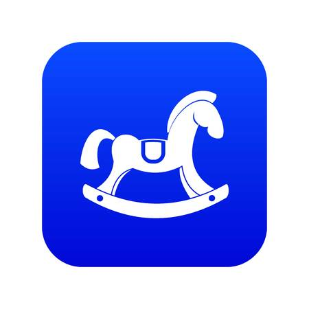 Toy horse icon digital blue