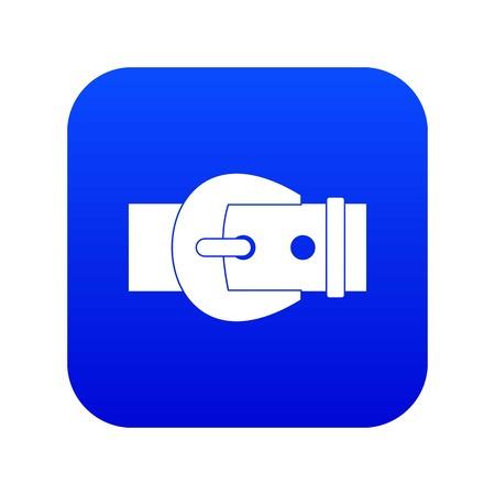 Icono de hebilla azul digital para cualquier diseño aislado en la ilustración de vector blanco