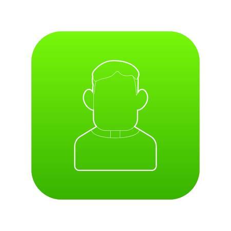Priest icon green vector