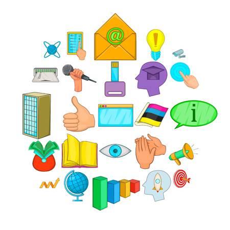 Business negotiation icons set. Cartoon set of 25 business negotiation vector icons for web isolated on white background Illustration