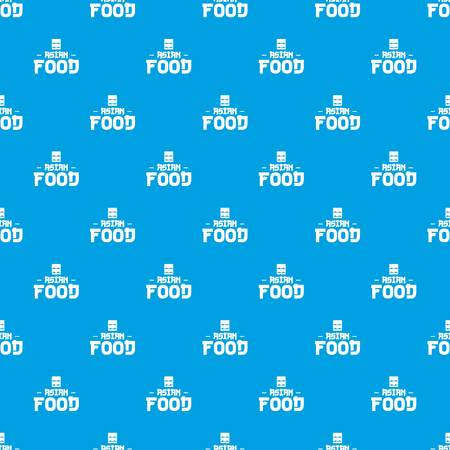 Menu asian food pattern vector seamless blue