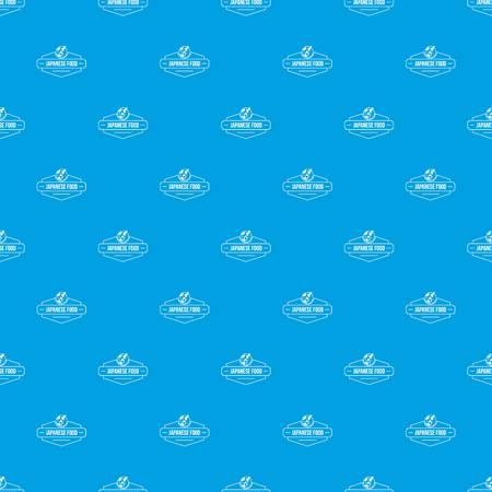 Menu japanese food pattern vector seamless blue