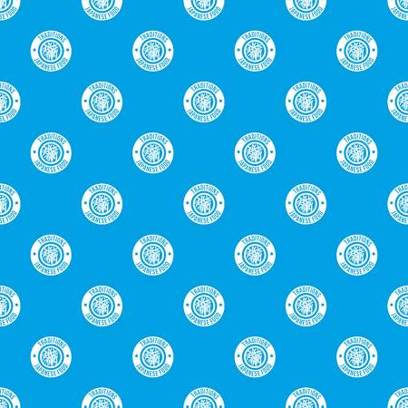 Sushi japanese food pattern vector seamless blue