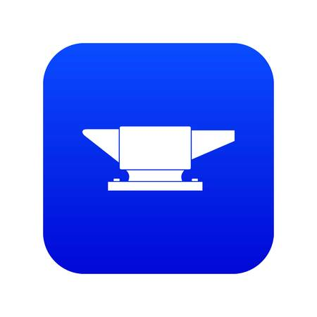 Anvil icon digital blue for any design isolated on white vector illustration